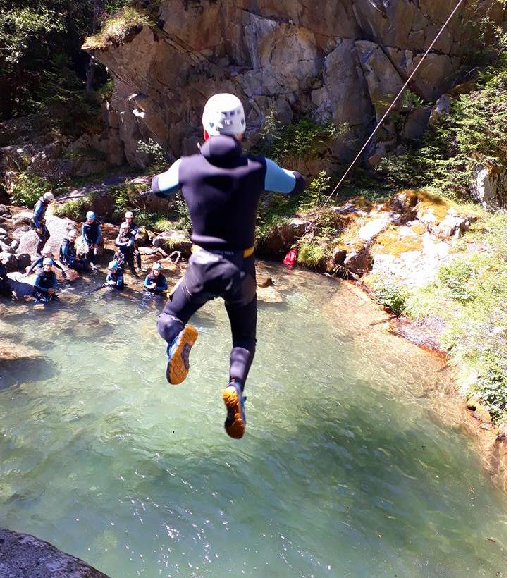 Canyon saut